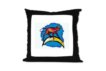 Bull 16 Pillow Animals Suede Pillow by CafePress