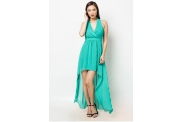 Halter Hi-Lo Maxi Dress