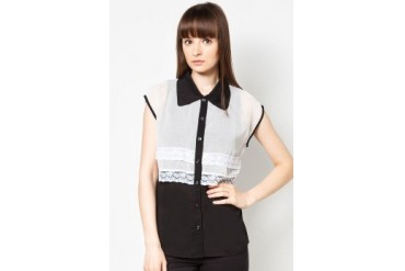 MiL Contrast Colour Collar Shirt