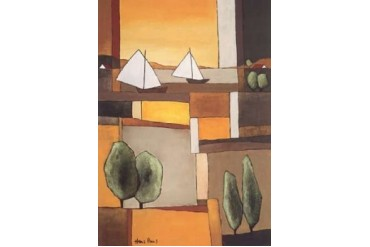 Two Boats II Poster Print by Hans Paus (10 x 14)