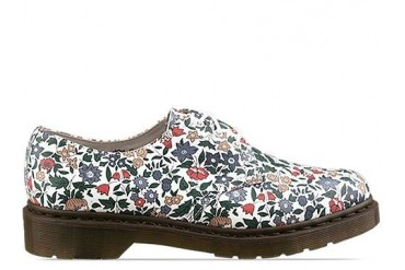 Dr. Martens X Liberty London 1461 Shoe in Blue Cherry Red Green size 10.0