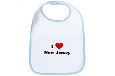 I Love New Jersey Funny Bib by CafePress