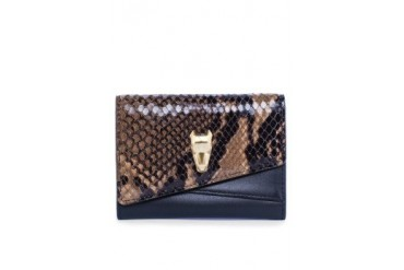 Amber Python Card Wallet