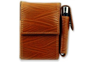 Deluxe Distressed Leather Cigarette and Lighter Case (For Kings)
