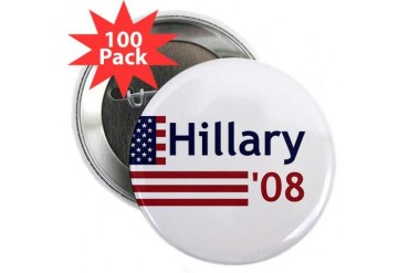 HILLARY '08 Hillary 2.25 Button 100 pack by CafePress