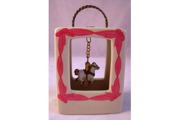 Carousel Horse Purse Shape Hinged Miniature Trinket Box