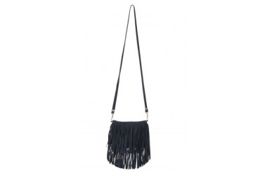 Mini Fringe Suede Bag in Navy - designed by JJ Winters