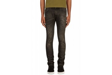 Diesel Black Faded And Distressed Thavar L.32 Jeans