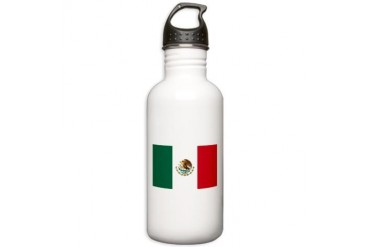 Mexico flag Mexico Stainless Water Bottle 1.0L by CafePress