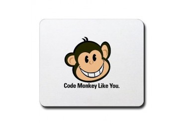 Cute Code Monkey Cupsthermosreviewcomplete Mousepad by CafePress