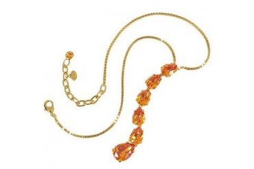 Tangerine Crystal Necklace