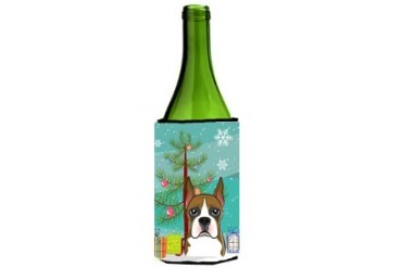 Christmas Tree and Boxer Wine Bottle Beverage Insulator Hugger