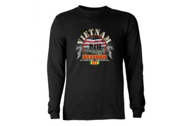 Vietnam War Veteran Long Sleeve Dark T-Shirt