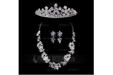 Gorgeous Alloy With Rhinestone Women's Jewelry Sets (011028571)