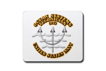 Navy - Rate - OT Navy Mousepad by CafePress