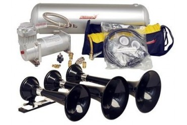 Kleinn Train Horns Complete triple train horn package with 150 psi 100% duty sealed air system  HK7 Kleinn Complete Kits