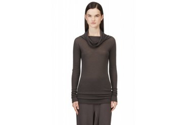 Rick Owens Grey Overlong Cashmere Sweater
