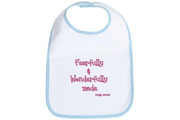 Wonderfully made Baby Bib by CafePress