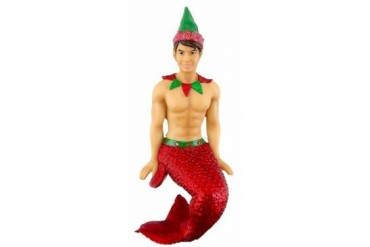 Snicker Doodle Elf Merman Christmas Holiday Ornament 7.25 Inches