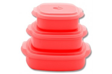 6pc Microwave Cookware - Red
