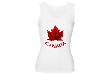 Canada Souvenir Maple Leaf Art Cool Women's Tank Top by CafePress