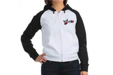 URIBL.COM Black Women's Raglan Hoodie by CafePress