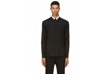 Givenchy Black And White Collar Stay Shirt