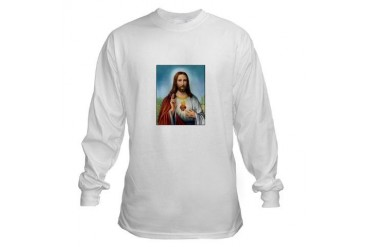 Sacred Heart of Jesus Christian Long Sleeve T-Shirt by CafePress