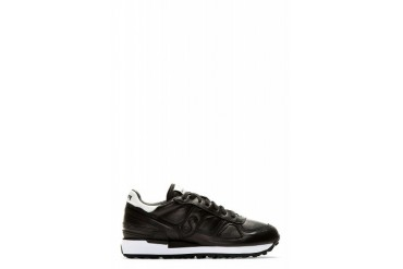 White Mountaineering Black Leather Paneled Sneakers