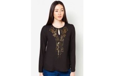 DressingPaula Long Sleeve Top With Sequins