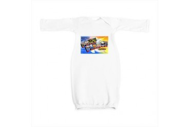 Fort Pierce Florida Greetings Vintage Baby Gown by CafePress