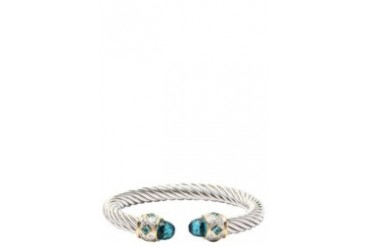 Blue Topaz Cable Bangle