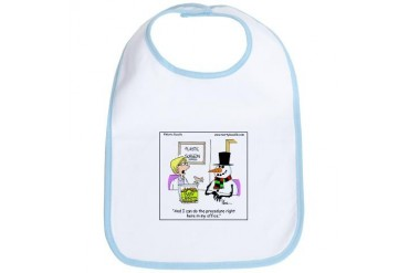 Snowman gets a nose job Doctor Bib by CafePress