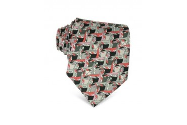 Abstract Design Silk Tie
