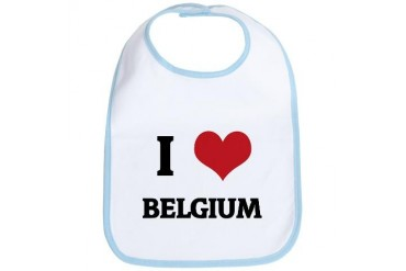 I Love Belgium Cute Bib by CafePress