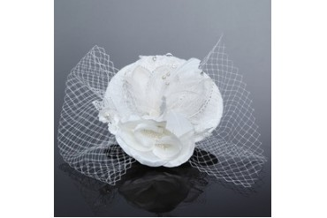 High Quality Artificial Silk/Net Yarn/Feather Fascinators (042052176)