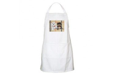 Yorkie and Maltese BBQ Funny Apron by CafePress