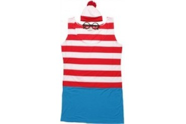 Where's Waldo Wenda Glasses, Mini-Hat and Dress Costume