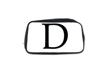 DBookAntiquablack.psd Alphabet Toiletry Bag by CafePress