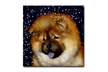CHOW CHOW Dog Tile Coaster by CafePress