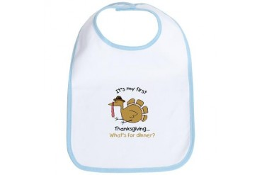 What's for dinner? Birthday Bib by CafePress