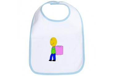 Toilet paper bag Boy Bib by CafePress