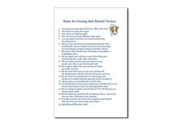 Rules for Owning JRTs Funny Postcards Package of 8 by CafePress