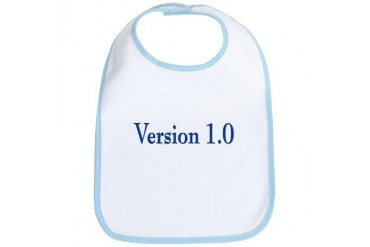 Version 1.0 Funny Bib by CafePress