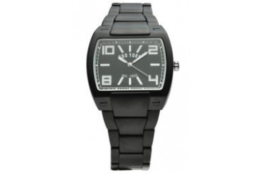 Gun Metal Watch with Black Dial