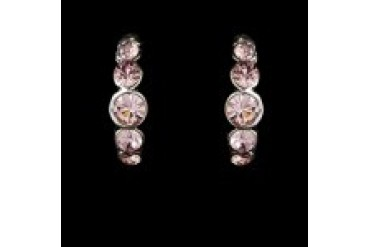 Elegance By Carbonneau Earrings - Style E20339-Pink