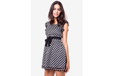 Catwalk88 Polkadot Dress with Ribbon Belt