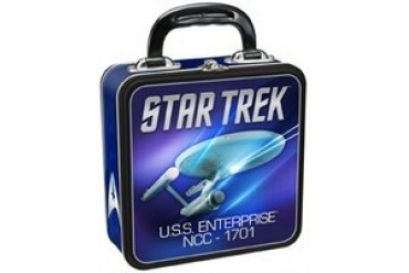 Star Trek USS Enterprise NCC-1701 Tin Tote Lunch Box