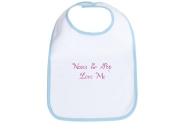 Nana/Pop Girl Baby Bib by CafePress