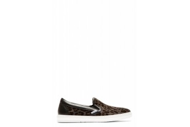 Jimmy Choo Grey Leopard Print Grove Slip on Shoes